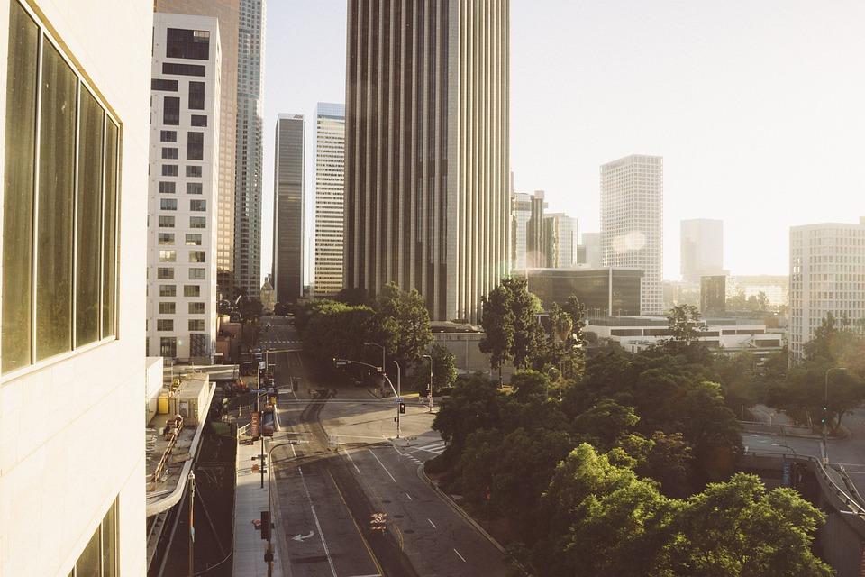 LA city view