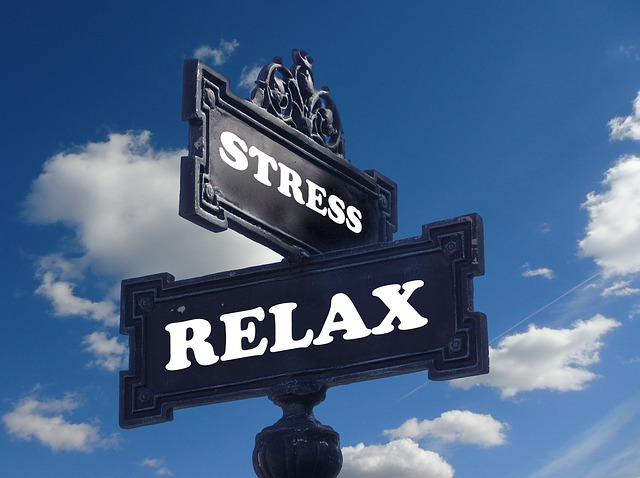 Stress and Relax signs - Find your own way to reduce stress when moving.