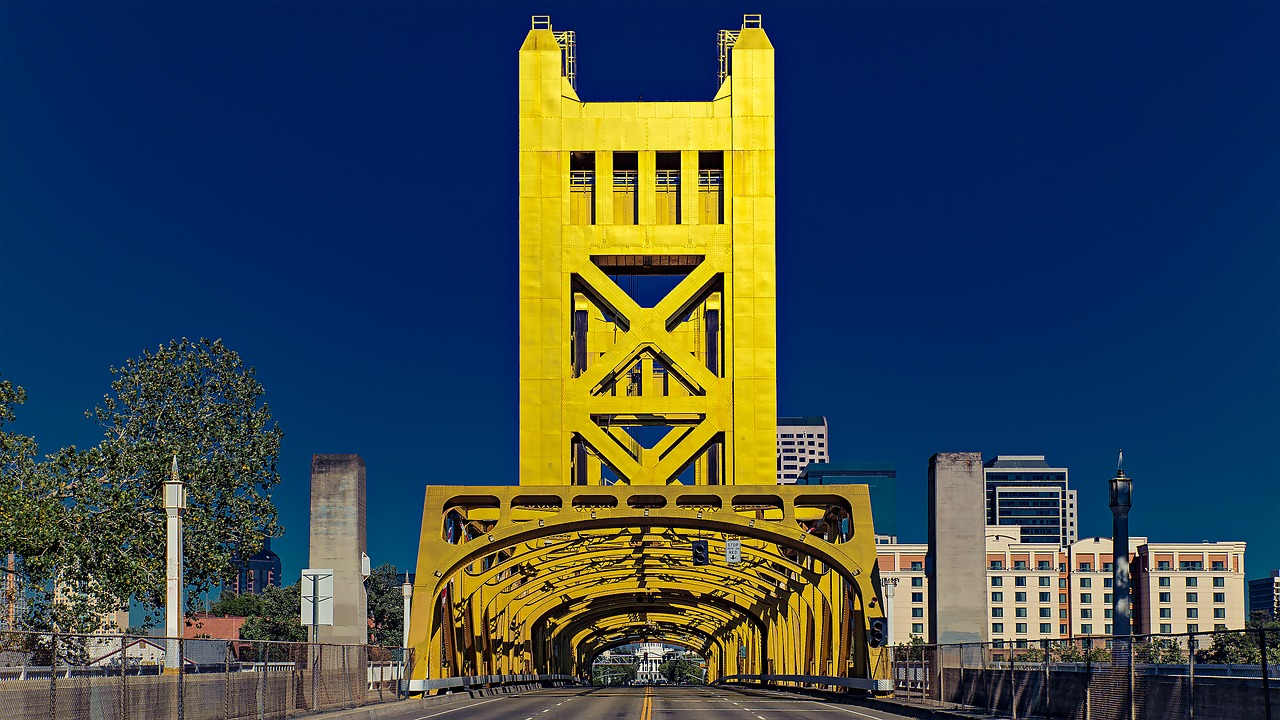 After moving to Sacramento, you'll get to see amazing buildings, such as this incredibly beautiful bridge, every day.