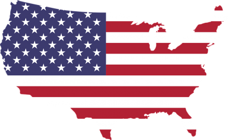 The USA flag and a map.