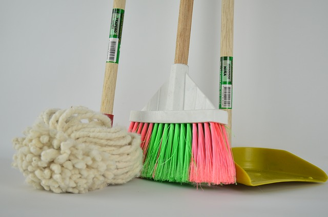 Some cleaning equipment to keep your home clean and organized.