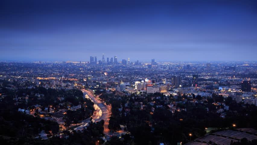Gorgeous LA landscape at dusk