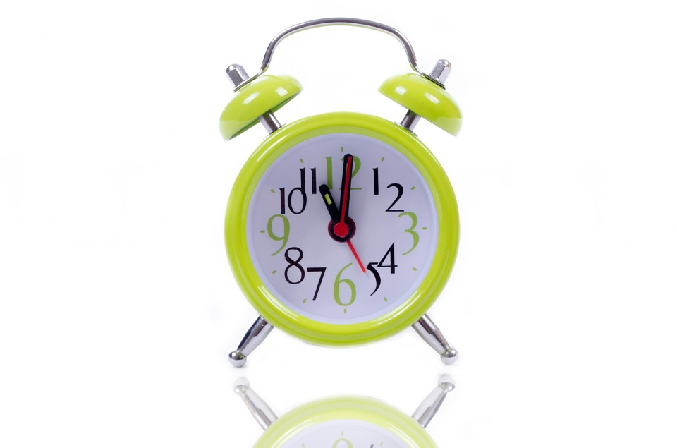 a clock because time is important when moving on short notice