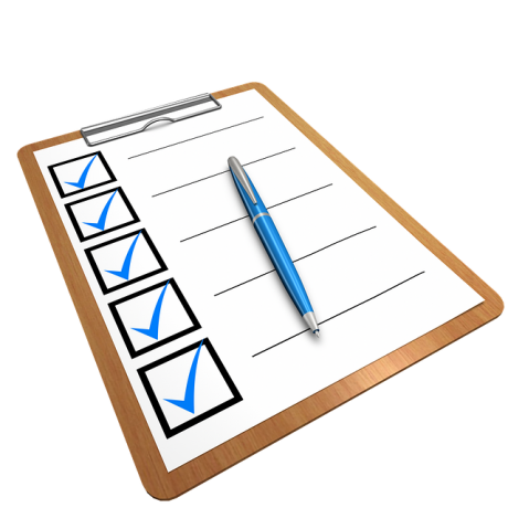A checklist for writing what people forget when moving.