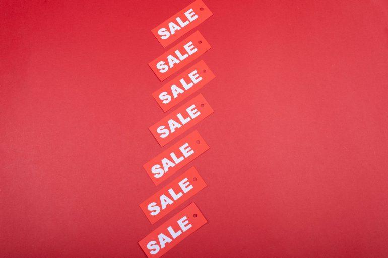 A sale sign.