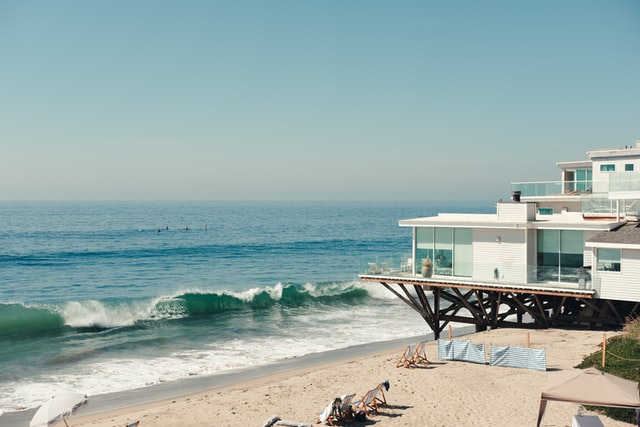 A beach house during daytime