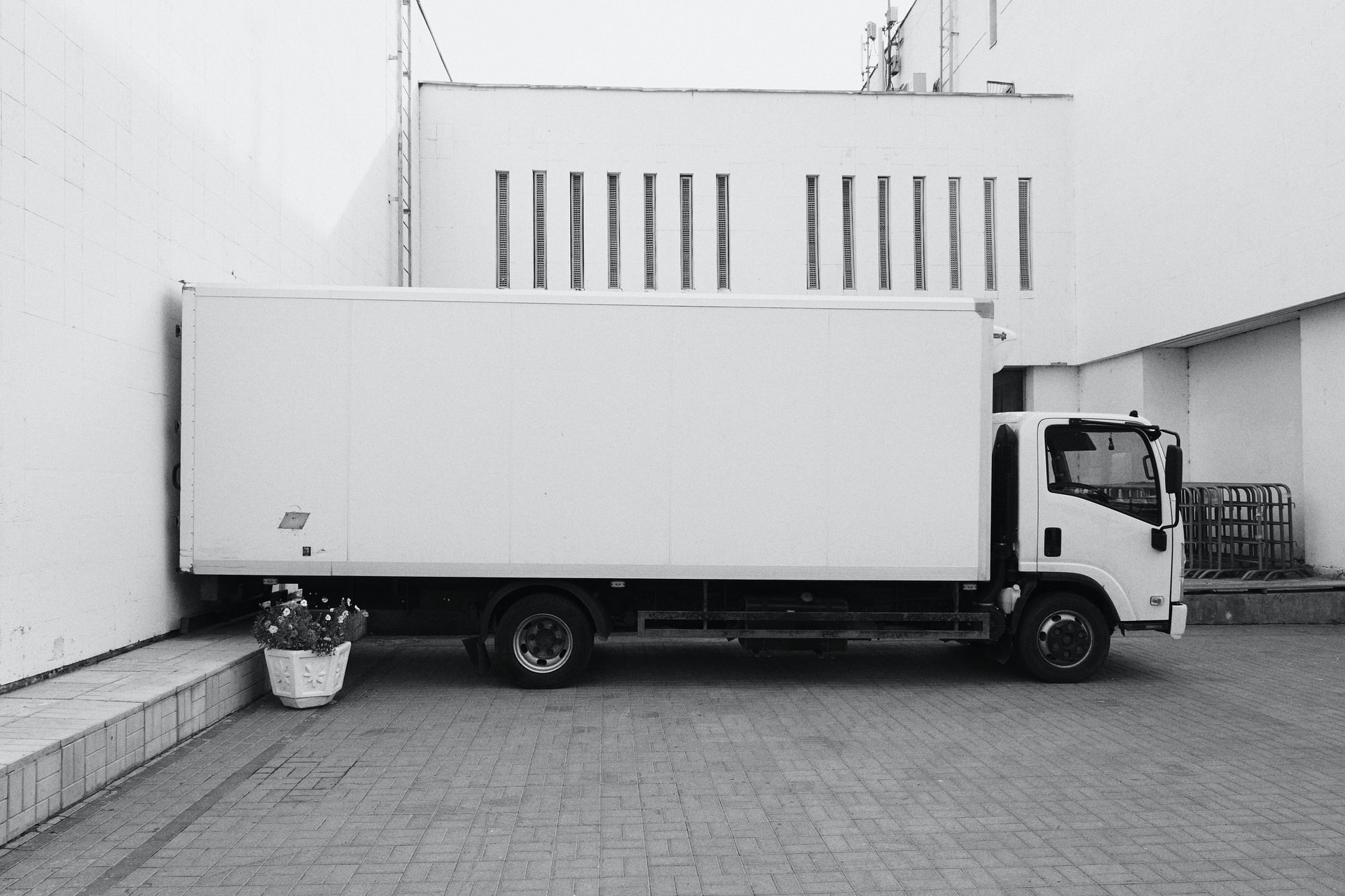 A moving truck ready to take your items to a great place for your branch office.