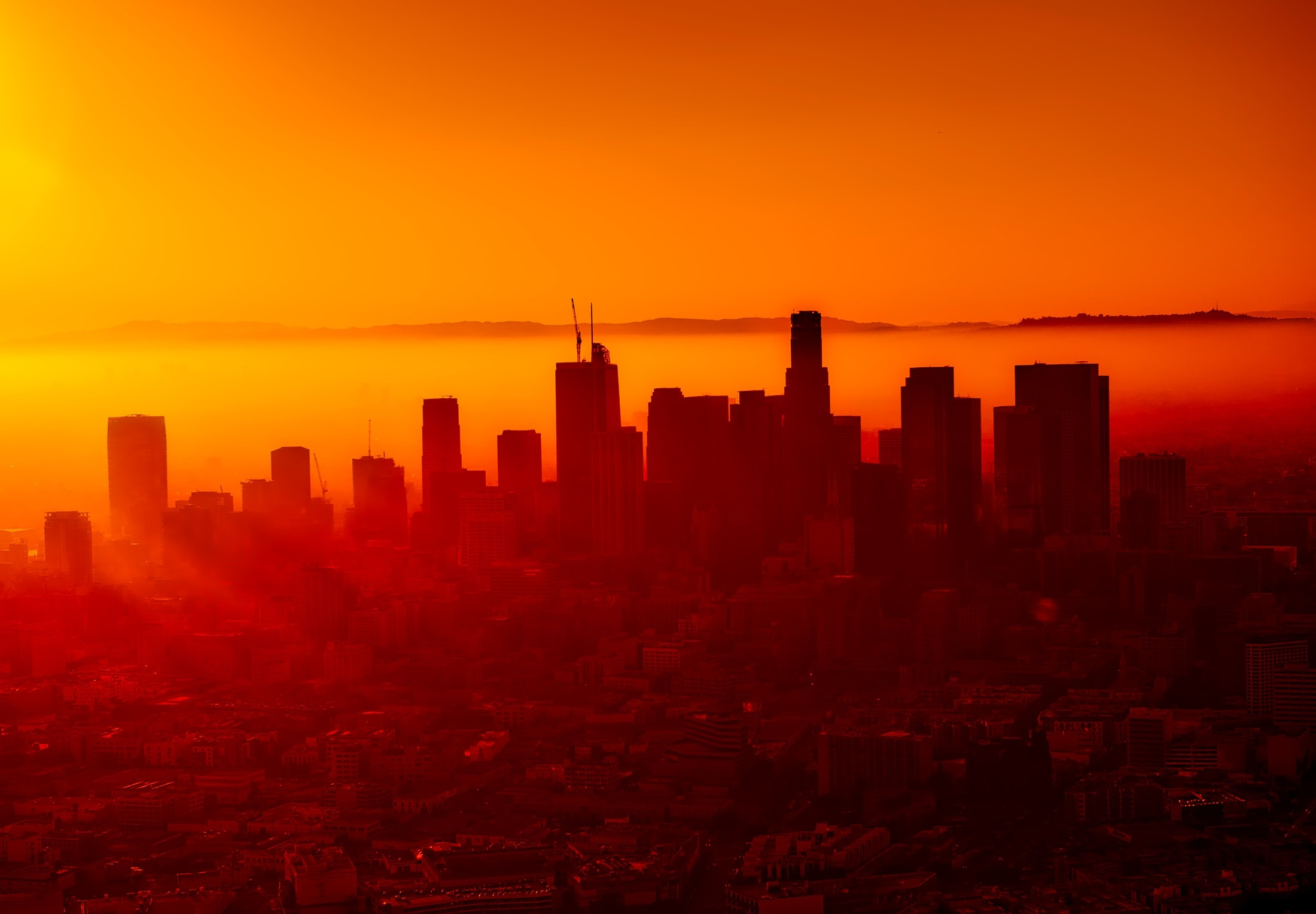 A sunset in Los Angeles